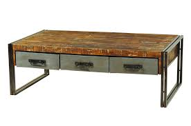 Rustic Wood And Metal Dining Chairs Amazing Wood And Metal Coffee Table With Coffee Table Industrial