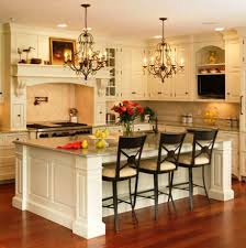 Pretty Chandeliers by Pretty Black Wooden Rectangle Shape Kitchen Island With Columns