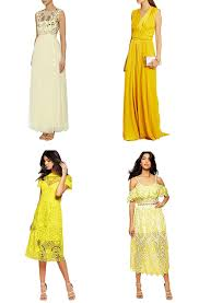 yellow dresses for weddings wedding guest dresses the top 7 trends for summer weddings 2016
