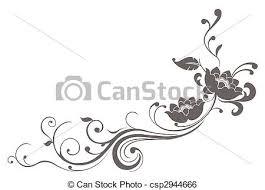 lotus flower pattern drawing of grey flower pattern in a stock