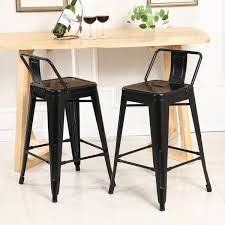 Kitchen Bar Furniture Furniture Your Kitchen Look Good With This Low Back Bar Stools