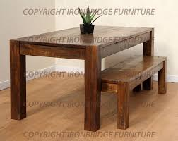 remarkable design rustic dining table with bench sumptuous