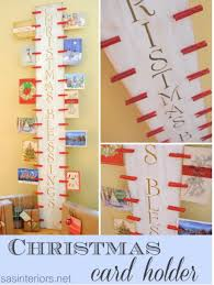 frugal diy holiday home decor day five holiday card display ideas