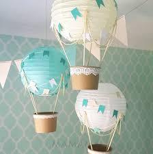 hot air balloon centerpiece whimsical hot air balloon decoration diy kit mint nursery
