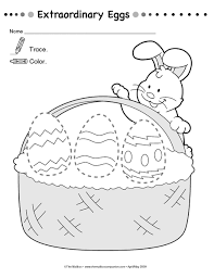 free printable easter trace worksheet crafts and worksheets for
