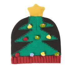 christmas tree hat knit christmas tree hat with led lights christmas tree shops