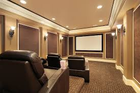 Home Theatre Design Basics Home Theater Basics From Comfy Chairs To A Quality Projector Screen
