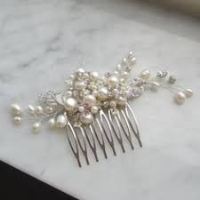 bridal hair comb pearl bridal hair comb wedding hair comb by adriajewelry on etsy