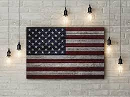 amazon com rustic american flag art canvas large 36x24
