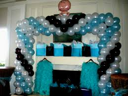 photo baby shower latex balloons image