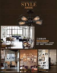 Dining Room Fans by Style Coffee Shop Retro Edison Fan Ceiling Light Vintage Dining