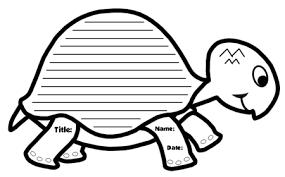 unique turtle writing templates turtle shaped creative writing