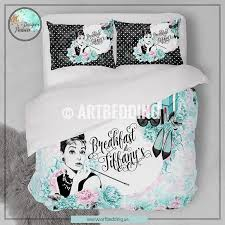 Mint Green Duvet Set Designer Art Bedding Set Breakfast At Tiffany U0027s Mint Green And