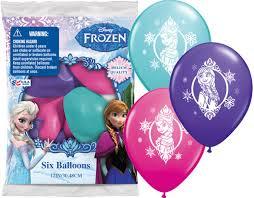 frozen balloons disney frozen printed balloons 6pk parties4kids