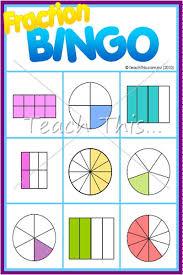 fraction bingo fun math games for dominoes bingo
