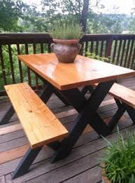 Build Your Own Round Wood Picnic Table by Farmhouse Picnic Table Plan Patio Dining Table Benches