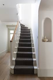 cheap stair parts staircase with black and white entry