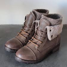 sweater boots with buttons coolway bring faux leather knit sweater cuff ankle boots shophearts