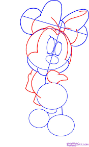 draw minnie mouse step step disney characters