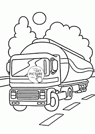 tank truck coloring page for kids transportation coloring pages
