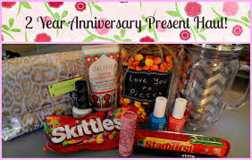 2 year anniversary gift ideas 2 year anniversary present haul stila tarte essie more