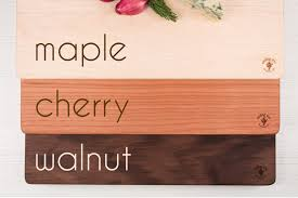 engraved wooden gifts autumn leaves gift set personalized wooden cutting board with