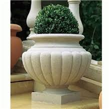 china white granite for flower pots planter pots outdoor planters