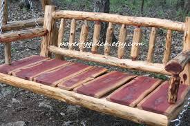 free shipping 4 u0027 rustic cedar log spindle porch swing rustic