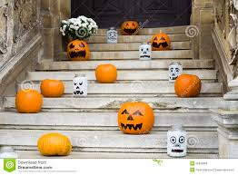 pumpkin screensavers halloween pumpkin decoration on stairs stock photo image 55826989