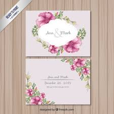 wedding flowers images free retro wedding card with flowers vector free