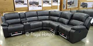 pulaski leather reclining sofa reclining leather sectional costco furniture pinterest leather