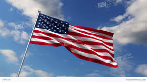 Hd American Flag Usa Flag Waving Against Time Lapse Clouds Background Stock