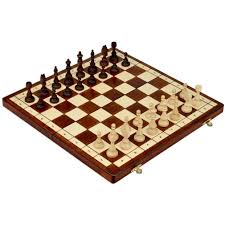 amazon com full sized magnetic wooden portable chess game set
