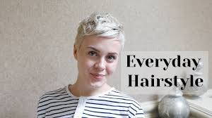 best air dry hair cuts air dry everyday styling routine pixie cut youtube