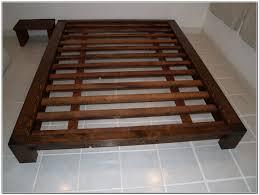 build a platform bed king queen size platform storage bed plans