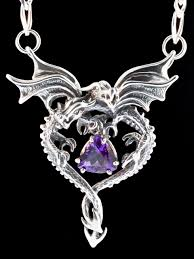 dragon jewelry necklace images Dragon heart pendant with amethyst jewelry jpg