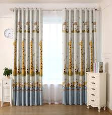 compare prices on giraffe bedroom online shopping buy low price 2017 modern kids fabric giraffe pattern shade blinds thick window blackout curtains for children living room