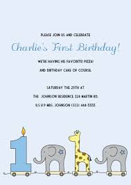 birthday invitation template printable 1st birthday invitations elephant and giraffe