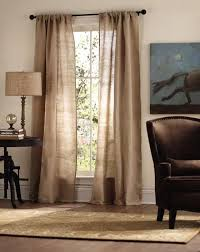 Curtains For Brown Living Room Luxe Linen Curtain Panel Draperies Tiebacks Window