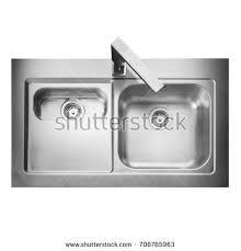 Kitchen Sink Top Stainless Steel Bowl Inset Kitchen Stock Photo 706765963