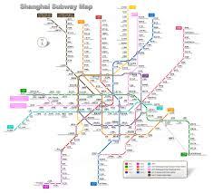 Red Line Metro Map by Shanghai Subway Shanghai Subway Lines