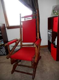 Victorian Upholstered Chair Antique Rocking Chair Victorian 1880s Turned Wood Victorian