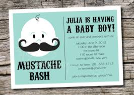 mustache baby shower invitations with julia is having a baby boy