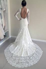 backless wedding dresses sleeve lace backless mermaid wedding dresses 2017