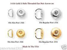 lost earring back white gold earring backs ebay