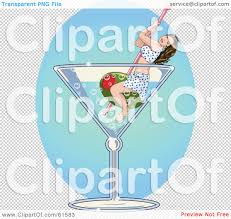 blue martini png royalty free rf clipart illustration of a brunette floating