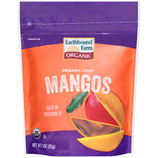 earthbound farm organic dried mangos 3 oz pouch walmart com