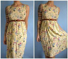 blue jean hipster country chic summer dress with pockets summer