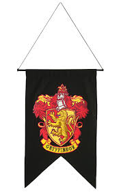 harry potter gryffindor house banner wall decor chivalry