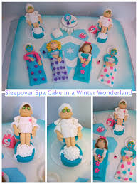 sleepover spa cake this would be perfect for hannah u0027s birthday